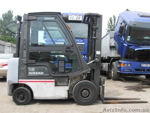 Дизельный погрузчик Nissan на 1.8 тонны вагонник с кабиной - Изображение #1, Объявление #1280207