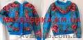 Куртка теплая из платка в стиле Лурдес,  Матрешка