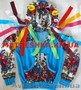 Кофта из велюра с венком и платочными вставками в стиле Лурдес,  Матрешка